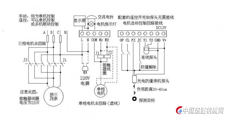 用户采用4台三相交流电机驱动电动安全栅栏