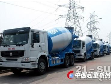 越南越德公司从洛阳中集凌宇订购第二批10台搅拌车