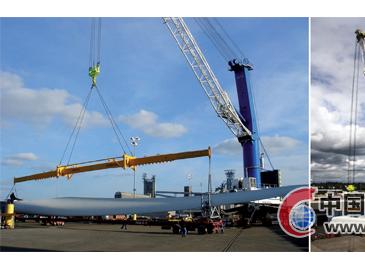 利勃海尔港口起重机助美国温哥华港风电机组轻松作业