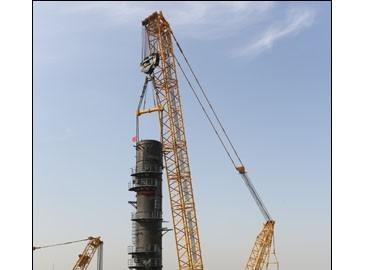 徐工XGC15000履带起重机鄂尔多斯新能源项目工地展风采