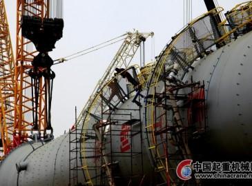 神华宁煤甲醇制烯烃项目MTP装配C3划分塔吊装