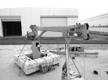 太重(天津)滨海公司5台船用30t液压伸缩臂起重机出口加勒比海域