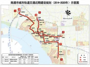 南通市轨道交通近期规划建两条地铁线 总投资397亿