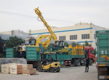 沃尔华集团7台机械设备销往古巴共和国