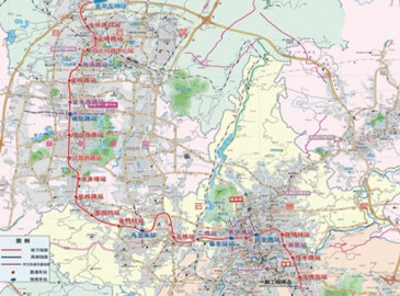 贵阳轨道交通2号线一期工程明年3月开建 新增北京西路站