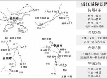国家批复浙江省11条城际铁路建设 总投资超千亿