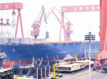 國內最大集裝箱船實現全船貫通