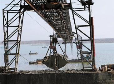 溫嶺市擔嶼圍涂工程正緊張施工