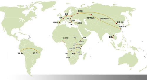 """一张地图看懂2014中国""""铁路外交""""大格局"""