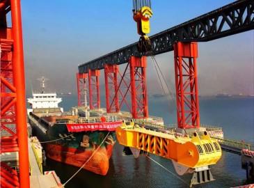 太重重件码头开航 筑梦海洋强国