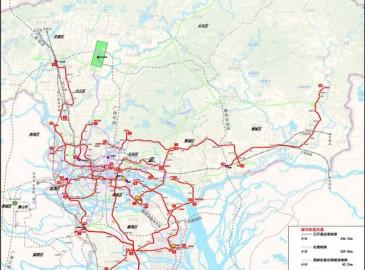 广州未来十年轨道交通规划方案图公布
