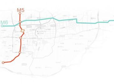 济南轨交M5、M6线初步划定 一纵一横共设39站
