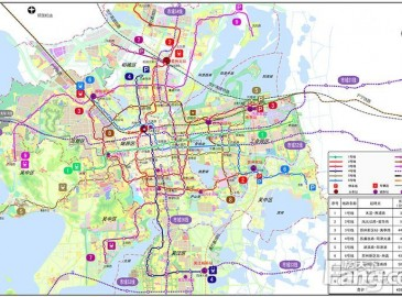 苏州轨道交通2015最新规划图 增6条市域地铁线路