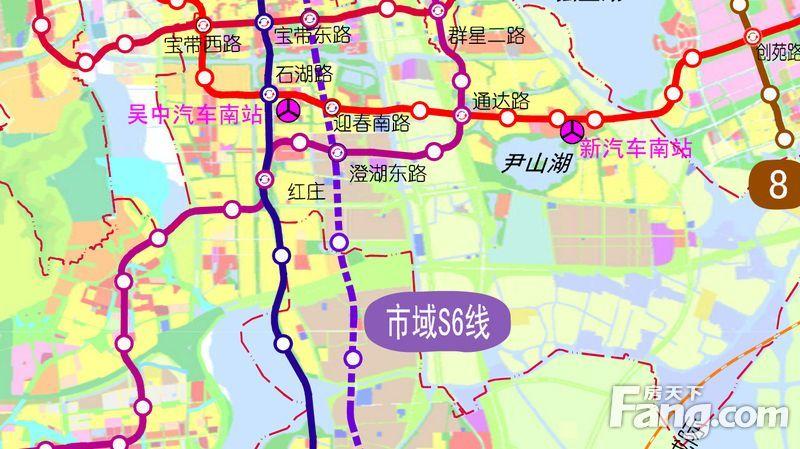 ...车南站目前还是规划在尹山湖,而园区独墅湖高教区东面规划了一个...图片 88119 800x449