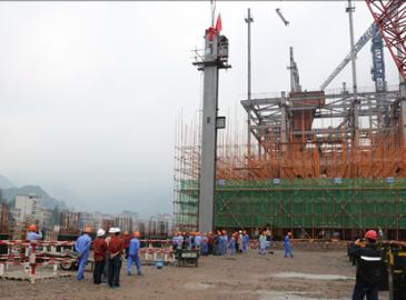 羅源灣電廠項目#2機組鍋爐鋼架正式開吊