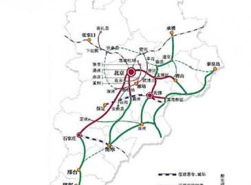 """未来京津冀将形成""""四纵四横一环""""城际铁路网 新建城际线23条"""