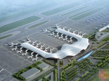 廣西兩江國際機場航站樓及配套設施全力推進 明年8月樁基工程可完工