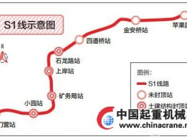 北京第一条中低速磁浮线路S1线紧张建设 将在年内实现全线贯通