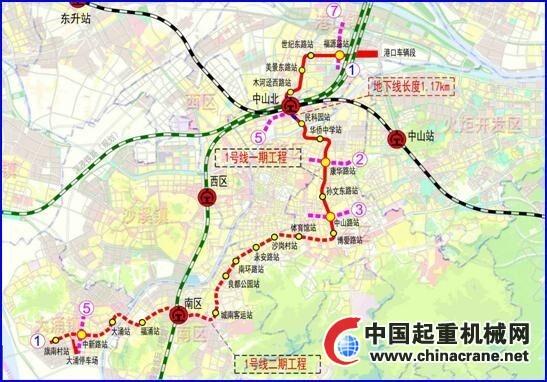 中山城轨规划环评公示 1,2号线路站点曝光