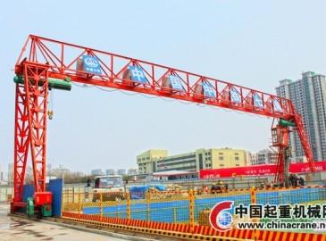 鄭州地鐵5號線首臺龍門吊順利安裝調試完成