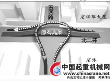 专家建议修建福州五四路二环路口高架桥匝道 解决交通拥堵