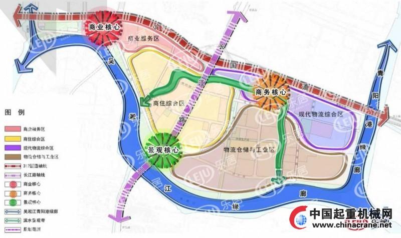 昆山高新区青淞地区区域功能结构图