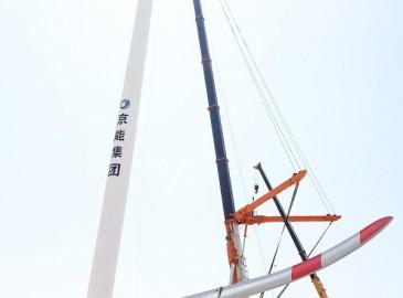 中聯重科QAY2000噸全地面起重機在寧夏完美實現風電項目首吊