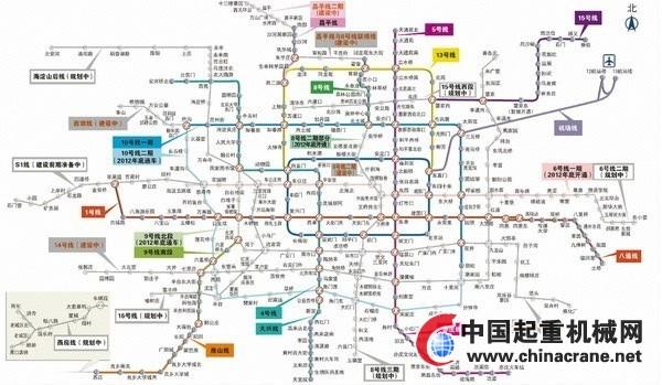 北京地铁6号线横贯东西六环 苹果园一站揽三线图片
