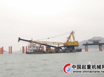 微特力矩限制器为广东长大100T打桩船保驾护航