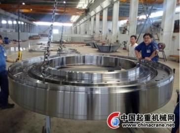 中铁TBM隧道掘进机主驱动薄壁环件首台套顺利下线