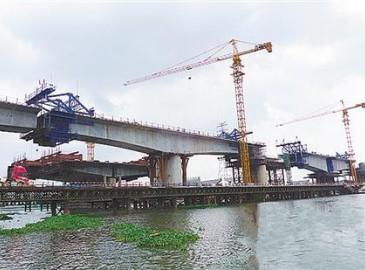 南坦海特大桥预计5月合龙 深茂铁路江茂段将于明年建成通车