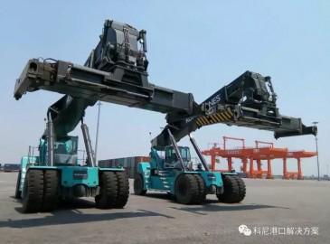 科尼2台新型集装箱正面吊助力天津中铁
