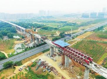 長株潭城際鐵路9.022公里西延線主體全面完工