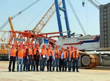 中聯重科舉行大噸位履帶吊技術升級交流暨施工觀摩會