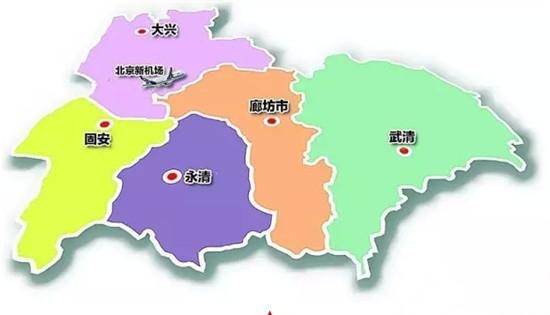 廊坊北京青岛位地图