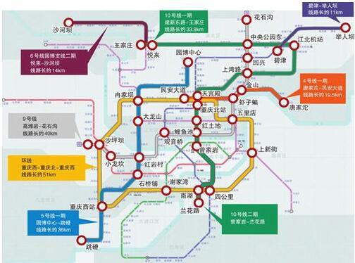 重庆轨道交通9号线二期工程设计审查招标 预计今年底开工图片