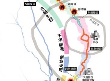 """240公里串联10区县9城镇  成都""""南北轴""""绿道规划出炉!"""