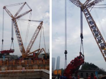 全球首创工法 徐工XGC650履带吊完成超大直径盾构机吊装
