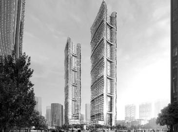 钱塘江北岸第一高--浙江财富金融中心将在2022年建成