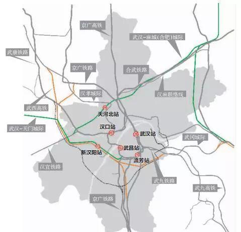 武汉铁路枢纽规划:新建三大火车站 高铁开进机场