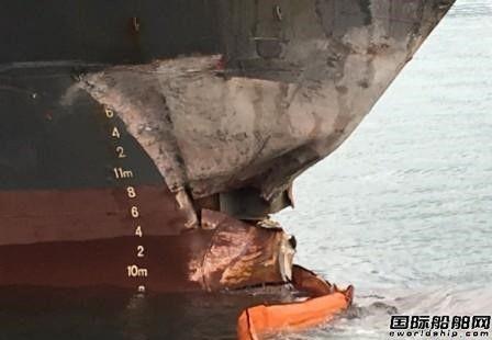 达飞旗下一艘集装箱船撞塌基隆港桥式起重机 致一名码头工人受伤