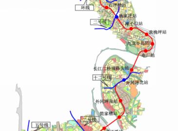 重庆轨道交通5A线初设站点公布 共设19座车站