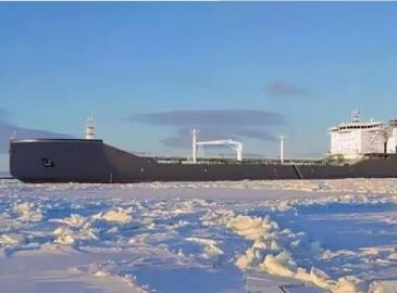 广船国际建造全球首艘载重量44500吨极地凝淅油船已完成主船体搭载