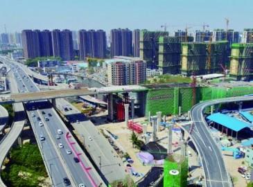 """郑州农业路高架与京广快速路部分互通 两大交通""""动脉""""今日""""牵手"""""""