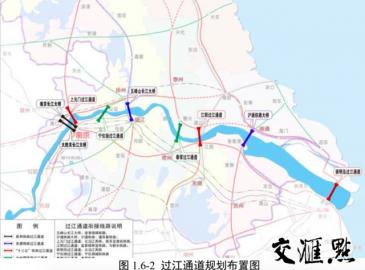 江苏南北交流重要支撑—扬子江城市群9座铁路过江通道位置首次曝光!