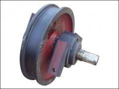 武汉起重机-优质双边车轮组厂家直销13871412800