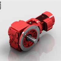 荥阳KF67螺旋锥齿轮减速机,法兰实心轴减速机厂家量身定制