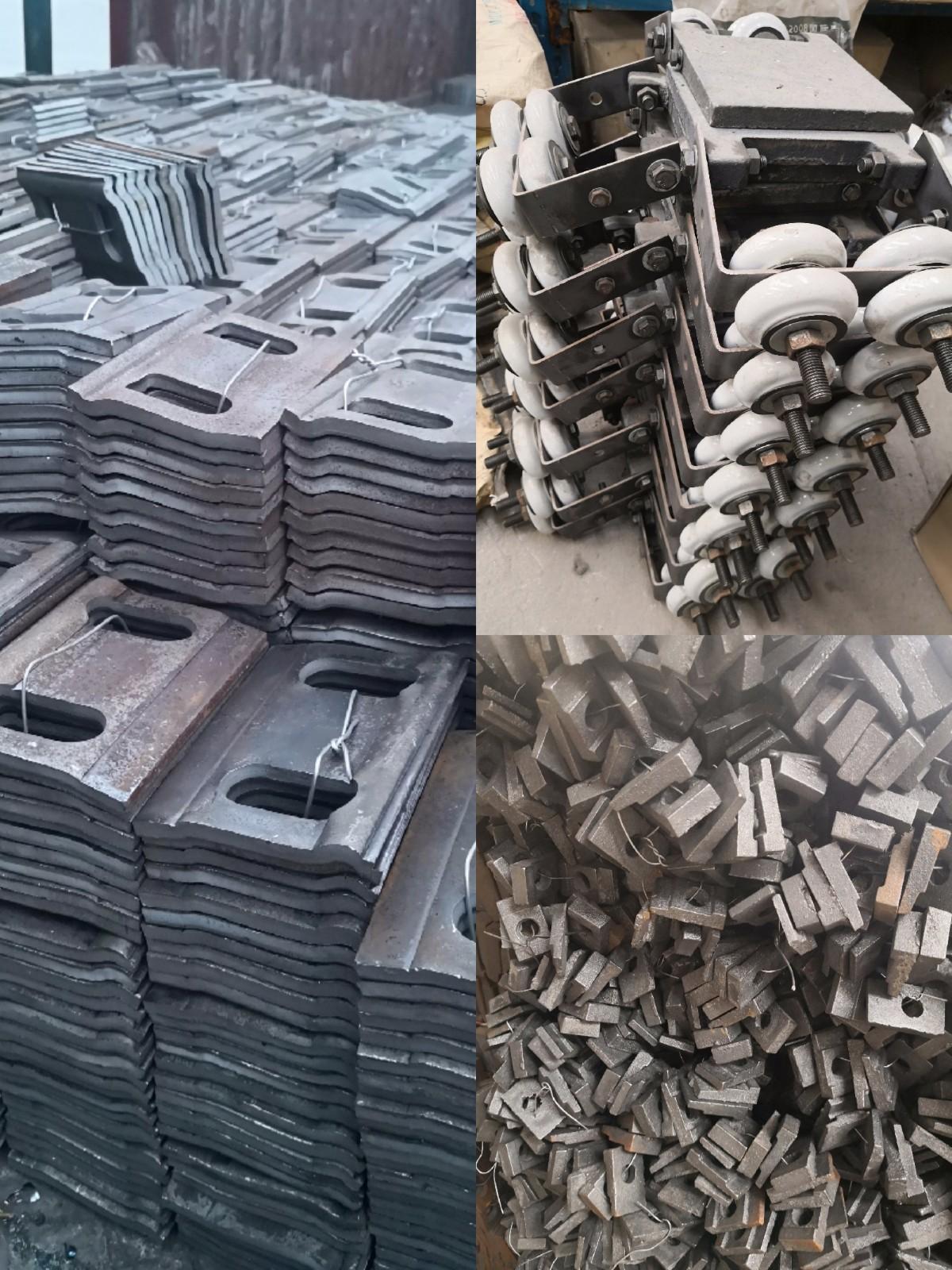 新乡宏鑫工矿压轨器压板夹板出口东南亚13262187779