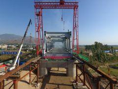 成昆铁路峨米段12标最长特大桥桥下部结构全部完工!