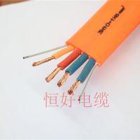 恒好电缆3*10+1*6耐高低温带双钢丝扁电缆